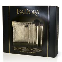 IsaDora Golden Brush Set with Purse