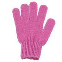 Single massage exfoliating glove - pink