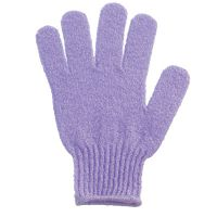 Single massage exfoliating glove - lavender blue
