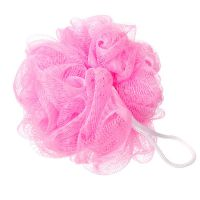 Mesh flower shaped sponge - light pink