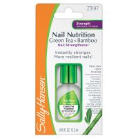 Sally Hansen, Nail Nutrition Green Tea, Bamboo Nail Strengthener, hoolduslakk