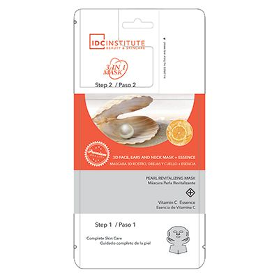 IDC Institute Pearl 35 g mask + 5 g essence revitalizing 3 D mask for face, ears and neck