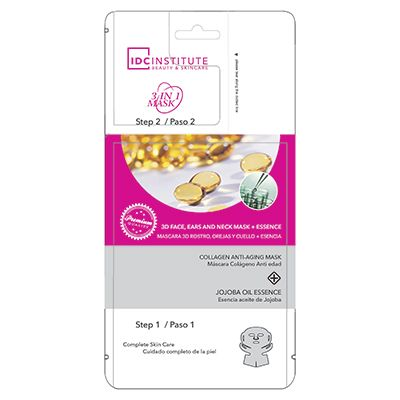 IDC Institute Collageen anti - ageing 3D mask for face, ears&neck, 35 gr mask + 5 gr essence