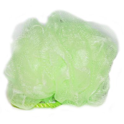 Mesh flower shaped sponge - lime