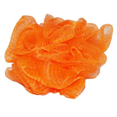 Mesh flower shaped sponge - orange