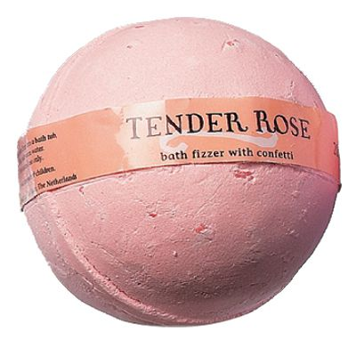 Bath fizzing ball with bath confetti, 180 g - tender rose fragrance