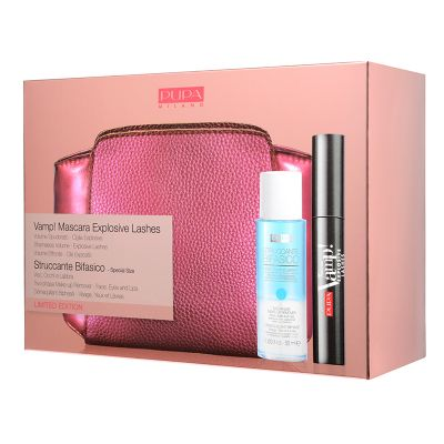 Pupa Make-up Set Vamp! Mascara Explosive Lashes + Two-Phase Make-Up Remover 50ml