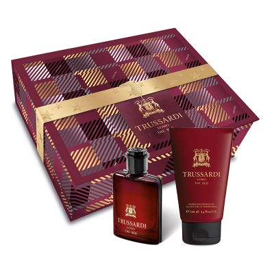 TRUSSARDI UOMO THE RED TWEED SET